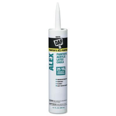 DAP ALEX Painter's Acrylic Latex Caulks (PC 18065), 10.1 oz , White