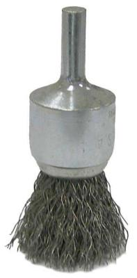 Weiler Vortec Pro Stem Mounted Crimped Wire End Brushes, 22000 rpm