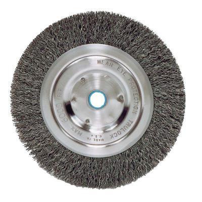 WEILER Vortec Pro® Crimped Wire Wheel, 5 in D,  014 Carbon Steel, 6,000  rpm, Retail Pk