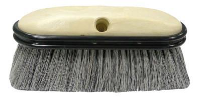 "10/"" Green Bristle foam and truck wash brush with bumper"