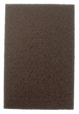 WEILER Non-Woven Hand Pads, Heavy-Duty, 9 x 6, Brown, Aluminum Oxide