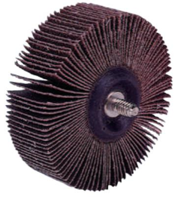 WEILER Tiger Mounted Flap Wheels, 3 in, 60 Grit, 20,000 rpm