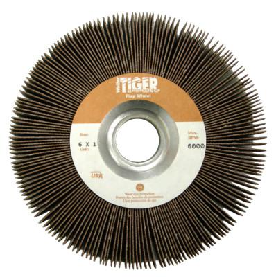 WEILER Tiger Unmounted Flap Wheels, 6 in, 60 Grit, 6,000 rpm