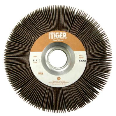 WEILER Tiger Unmounted Flap Wheels, 6 in, 80 Grit, 6,000 rpm