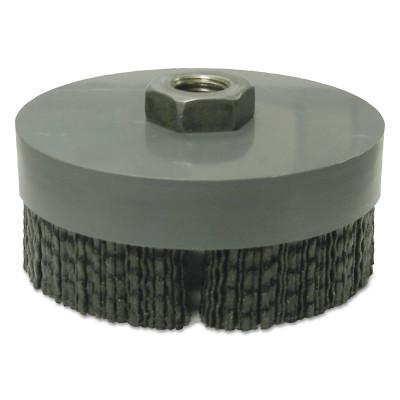 WEILER Nylox Cup Brushes, 4 in Dia., 5/8 in - 11 Arbor, 0.049 in x 0.098 in Nylox Wire