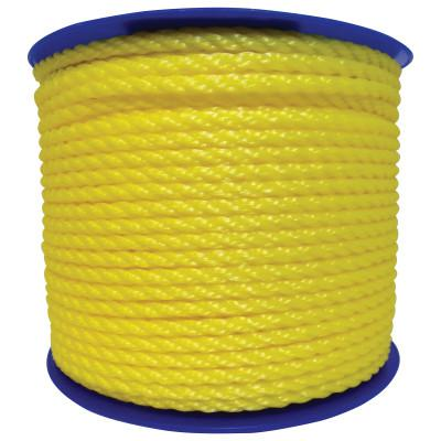 ORION ROPEWORKS INC Monofilament Twisted Poly Ropes, 2,168 lb Cap., 600 ft, Polypropylene, Yellow