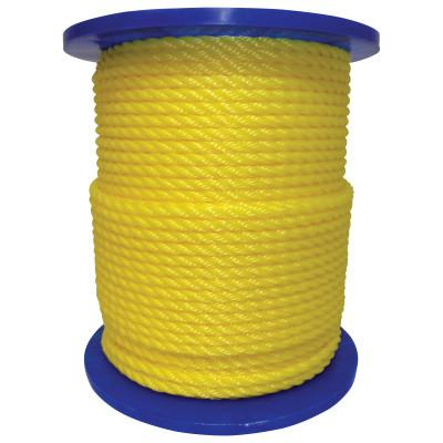 ORION ROPEWORKS INC Monofilament Twisted Poly Ropes, 3,477 lb Cap., 600 ft, Polypropylene, Yellow