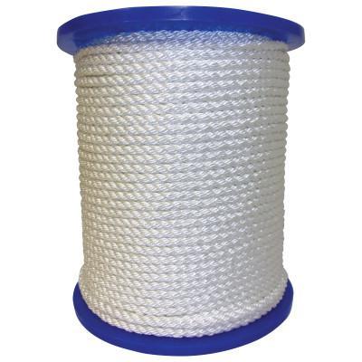 ORION ROPEWORKS INC Twisted Nylon Ropes, 1/2 in x 600 ft, Nylon, White