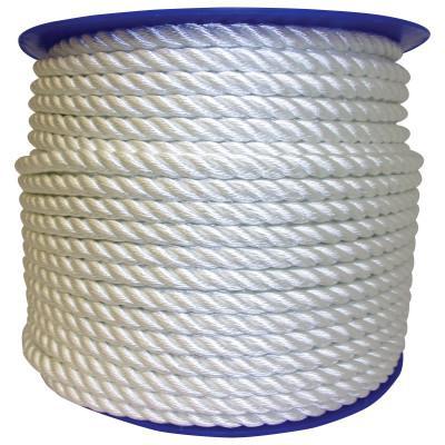 ORION ROPEWORKS INC Twisted Nylon Ropes, 12,198 lb Cap., 600 ft, Nylon, White