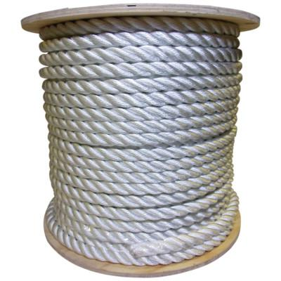 ORION ROPEWORKS INC Twisted Nylon Ropes, 1 1/2 in x 600 ft, Nylon, White