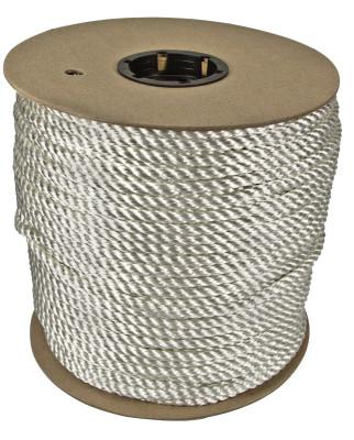 ORION ROPEWORKS INC Twisted Nylon Ropes, 3/8 in x 300 ft, Nylon, White