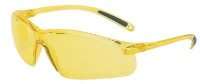 HONEYWELL UVEX A700 Series Eyewear, Amber Lens, Polycarbonate, Hard Coat, Amber Frame