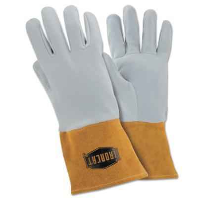 PIP MIG Deerskin Welding Gloves, Reverse Grain Deerskin Split Leather, Medium, Tan