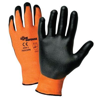 PIP Zone Defense Gloves, Large, Orange/Black