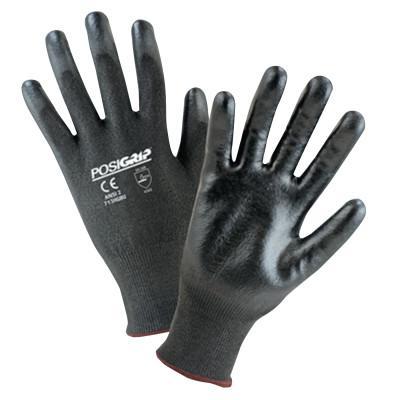 PIP 713HGBU Palm Coated HPPE Gloves, Large, Black