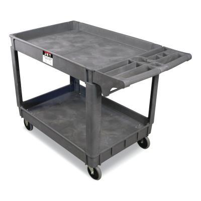 JET Utility Carts, 550 lb Capacity, 31 in x 17 in x 33-1/2 in, Gray
