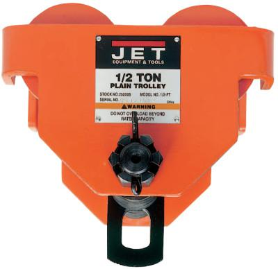 "JET PT Series Plain Trolley, 1/2 Ton, 2 1/2"" - 8"" Beam Width"