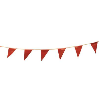 CORTINA Pennants, Vinyl, 9 in x 12 in, Red, 100 ft String