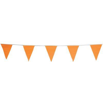 CORTINA Pennants, Vinyl, 9 in x 12 in, Orange, 60 ft String
