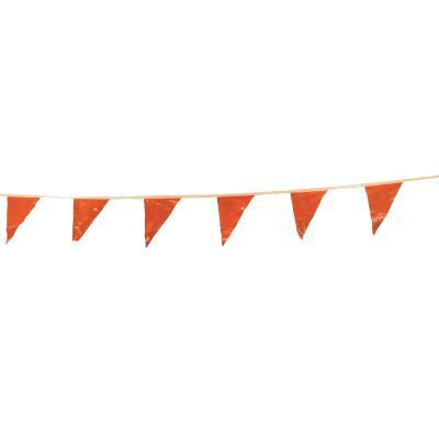 CORTINA Pennants, Vinyl, 9 in x 12 in, Orange, 100 ft String