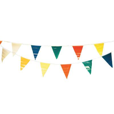 CORTINA Pennants, Vinyl, 9 in x 12 in, Multi-Colored, 100 ft String