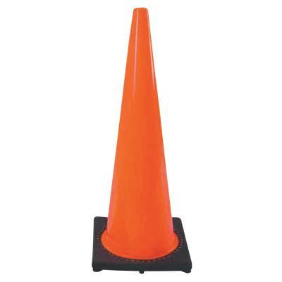 CORTINA PVC Traffic Cones, 36 in, PVC, Orange/Black