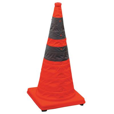 CORTINA Pack and Pop Collapsible Safety Cone, 12 x 12 x 28, Orange, Nylon