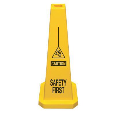 CORTINA Lamba Safety Cone, Safety First, Yellow