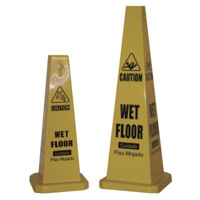 CORTINA Lamba Safety Cone, Wet Floor, Yellow