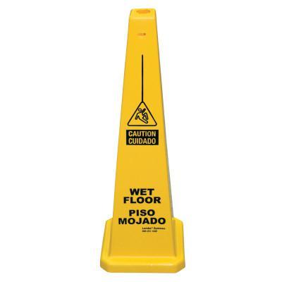 CORTINA Lamba Safety Cone,  Piso Mojado/Wet Floor, Yellow