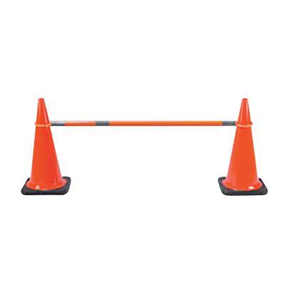 "CORTINA Safety Cone Bar, Retractable, 5' to 9', Hard Plastic, 3-3"" Reflective, Orange"