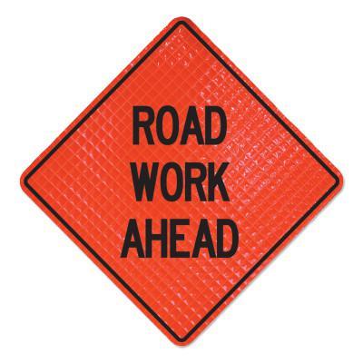 CORTINA Road Work Ahead Signs, Road Closed Ahead, Orange