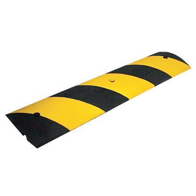 CORTINA Rubber Speed Bump, 48 in Long, Black/Yellow