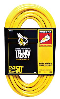 WOODS WIRE Yellow Jacket Power Cord, 50 ft