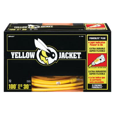 WOODS WIRE Yellow Jacket Power Cord, 100 ft