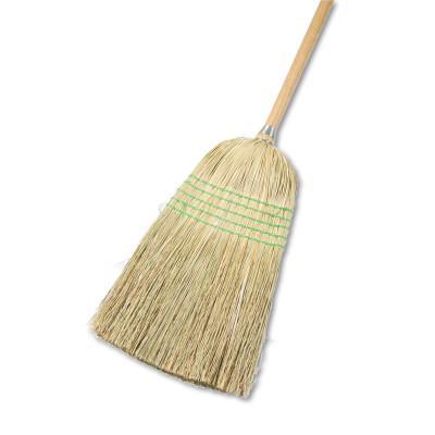 BOARDWALK Parlor Broom, Yucca/Corn Fiber Bristles, 56 in, Wood Handle, Natural