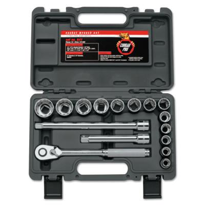 WRIGHT TOOL 16 Piece Cougar Pro Socket Set, 1/2 in, 12 Point