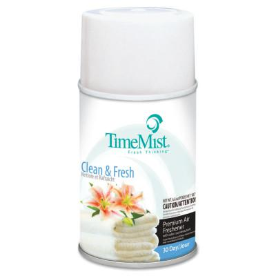 TIMEMIST Metered Fragrance Dispenser Refills, Clean N Fresh, 6.6oz Aerosol
