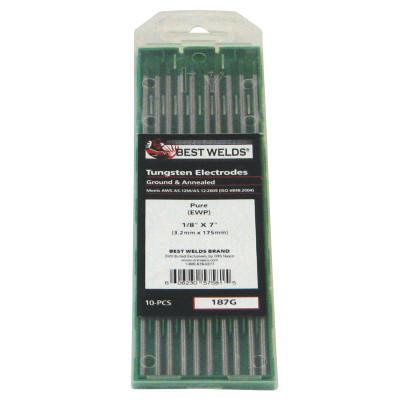BEST WELDS Tungsten Electrode, Pure Ground, 7 in, Size 1/8