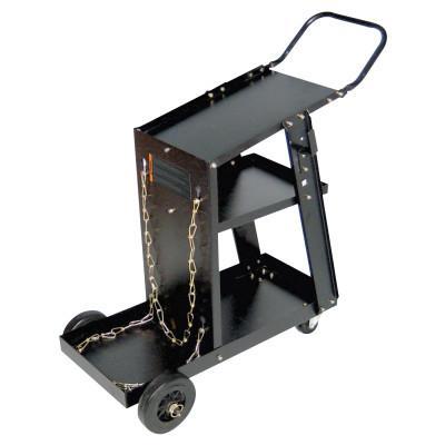 BEST WELDS MIG Welding Cart, 12-1/4 in x 33 in, 3 Shelves, 125 lb Cap, Black