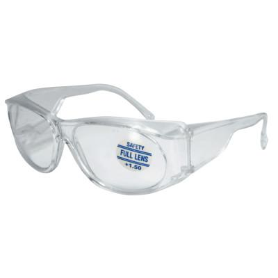 ANCHOR BRAND Full-Lens Magnifying Safety Glasses, 1.50 Diopter, Clear