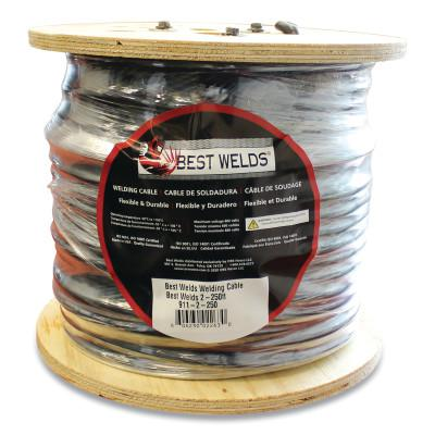 BEST WELDS Welding Cable, 2 AWG, 100 ft