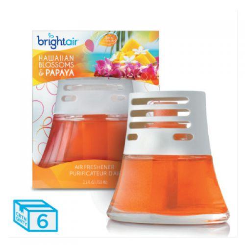 BRIGHT AIR Scented Oil Air Freshener, Hawaiian Blossoms and Papaya, Orange, 2.5oz