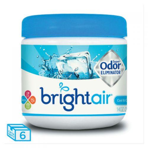BRIGHT AIR Super Odor Eliminator, Cool and Clean, Blue, 14oz