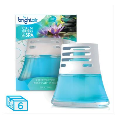 BRIGHT AIR Scented Oil Air Freshener, Calm Waters and Spa, Blue, 2.5oz