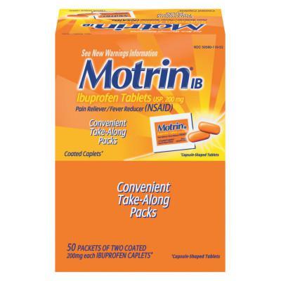 MOTRIN IB Ibuprofen Tablets, Two-Pack