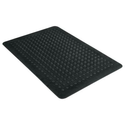 GUARDIAN Flex Step Rubber Anti-Fatigue Mat, Polypropylene, 24 x 36, Black