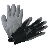 HYFLEX HyFlex 11-600 Palm-Coated Gloves, Size 10, Black