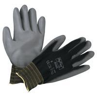 HYFLEX HyFlex 11-600 Palm-Coated Gloves, Size 8, Black