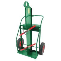"""ANTHONY Heavy-Duty Reinforced Frame Dual-Cylinder Carts, 16"""" Solid Rubber Wheels"""